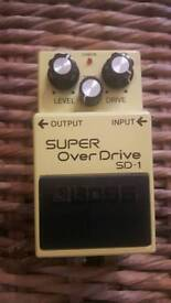 BOSS SD-1 SUPER OVER DRIVE PEDAL