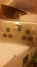 Sockets double brushed stainless steel