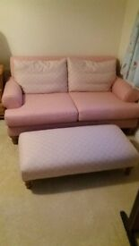 DFS 3 seater and 2 seater sofas and matching footstool