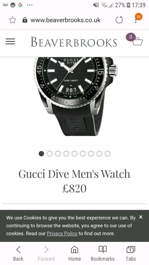 626ef00561b Gucci Dive 200m Black Watch RRP  £820