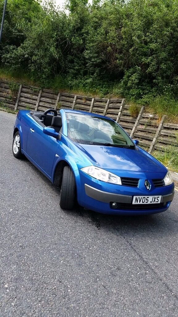 convertible beautiful summer car renault megane cc blue 1 6 petrol 2005 in ealing london. Black Bedroom Furniture Sets. Home Design Ideas