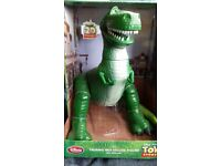 DISNEY TOY STORY REX TALKING DINASAUR TOY NEW IN BOX (APPROX. 12 inches HIGH)