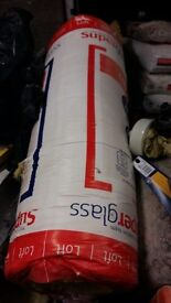 100 mm glass wool insulation 1 bag left