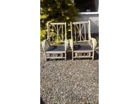 2 cane chairs, good condition, no cushions