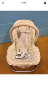 Mamas And Papas Catch A Star Wave Rocker, Vibrate & Sound Baby Rocker Chair Seat