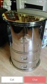 Full stainless steel drinks cabinet
