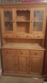 Solid oak wall unit