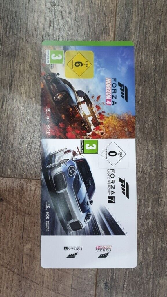 forza 4 and forza 7 Xbox One digital game codes | in Swanley, Kent | Gumtree