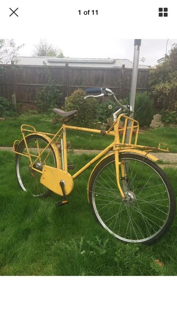 A genuine French vintage postmans bicycle