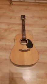 Encore Electro Acoustic Guitar full size GOOD CONDITON AND FULLY WORKING