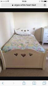 Girls white princess bed