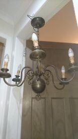 Vintage Antique Flemish Chandelier