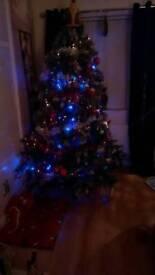 Nine foot fibre optic Christmas tree