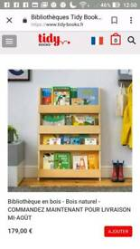 Tidy books bookcase