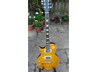 Superb left-handed Vintage Relic Lemon Drop Guitar - RRP from £378 to 449. Yours for £225
