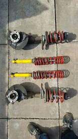 Mk2 mk2f polo lowering suspension; height adjustable on rear, coil springs