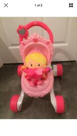 Fisher Price first pram and doll