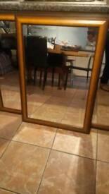 Large and medium mirrors matching