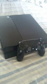 Playstation 4 500 gig with controller and cables 180 ono
