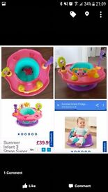 Baby floor seat with toys