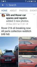 Rover 216 sli breaking now