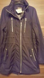 NEXT Black Shower Resistant Coat - Size 12 - NEW!