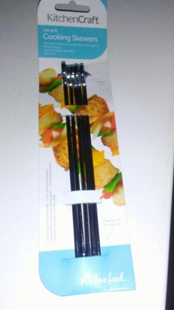 1d8fe53f87ba 5 new stainless steel cooking skewers had to buy 6 only wanted 1