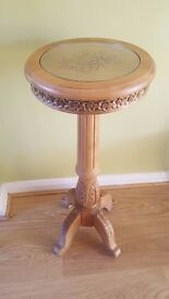 Ornate Carved Pot Stand/ Table