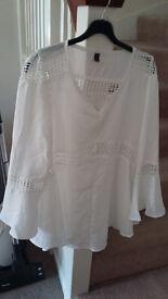 Ladies top white blouse - Brand new