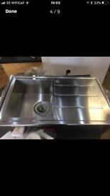 Hotpoint SBSD Sink 1mm Guage S/Steel 780 wide brand new