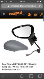 BRAND NEW Ford Fiesta Mk7 2008-2012 Electric Wing Door Mirror Primed Cover Passenger Side