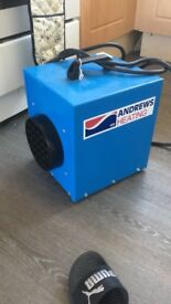 andrews sykes de25 3kw 32 amp 110v heater Perfect for heating large spaces