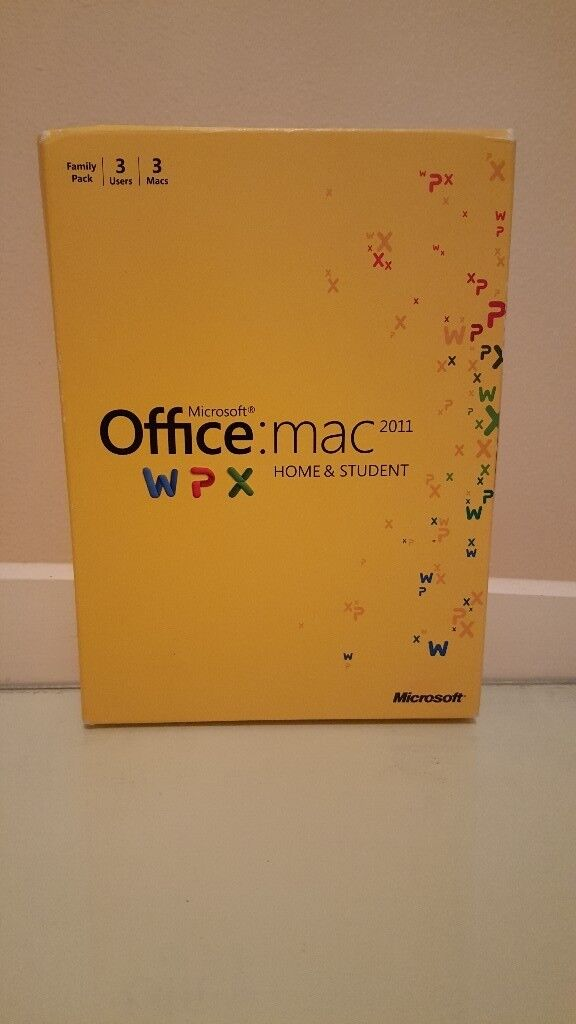 Microsoft Office 2011 Mac Home & Student Edition (3 Install)