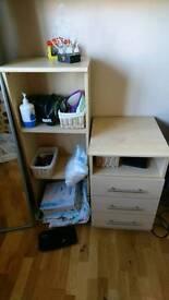 Triple storage unit