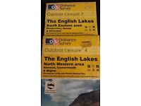 Two OS maps of the Lake District