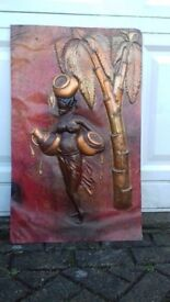 African copper relief picture