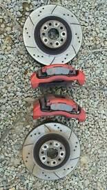 VW Golf GTI big brake upgrade Audi S3 Brake Calipers & Discs
