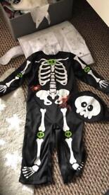 Skeleton Halloween costume 9-12m