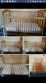 Baby cot and car seat