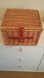 John Lewis wicker hamper never used vgc.picnic .show.veg. toiletries. Anything