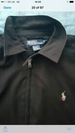 Mens Ralph Lauren jacket black in colour size large