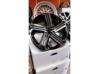 """BRAND NEW 18"""" VW GOLF R400 ALLOY WHEELS X4 BOXED 5X112 GOLF MK5 MK6 MK7 CADDY SCIROCCO AUDI A3"""