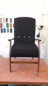 Tweed armchair