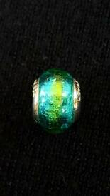 LOVELINKS SILVER, TURQUOISE & LIME CHARM - BRAND NEW