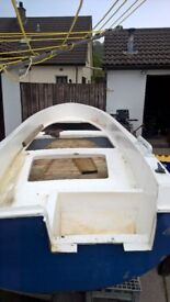 fishing boats and good trailer 5hp engine