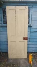 2 Edwardian solid wood doors