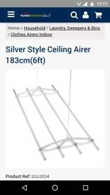 Clothes Ceiling Airer pulley. White.
