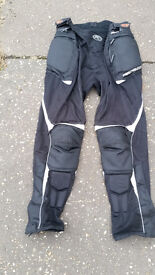 """Motorcycle Trousers . Summer. Open Weave with Armour . 3 XL """"Field Sheer"""""""