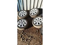 VAUXHALL CORSA C SXI ALLOY WHEELS AND TYRES,1855/55/15 2000-06,5 ALLOY WHEELS