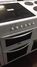 £125 BELLING 50 CM WIDE ELECTRIC COOKER WITH GUARANTEE